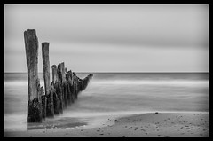 Baltic Sea (k.tusnio) Tags: baltic sea water black white fine art hdr nikon poland d5100 35mm prime waves beach sky rain