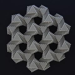 "Hexagon Lattice of Jessen's Orthogonal Icosahedra <a style=""margin-left:10px; font-size:0.8em;"" href=""http://www.flickr.com/photos/76197774@N08/34224475570/"" target=""_blank"">@flickr</a>"