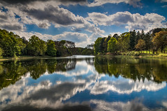 Lake at Nostell Prioriy (21mapple) Tags: nationaltrust national trust trees tree tranquil river lake water clouds cloudy sky blue refelection countryside