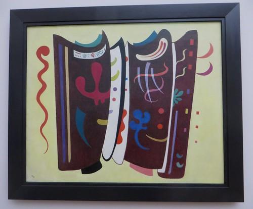 """""""Brun supplémenté"""", 1935, Exposition """"Kandinsky, les années parisiennes 1933-1944"""", Musée de Grenoble, Grenoble, Rhône-Alpes-Auvergne, France."""