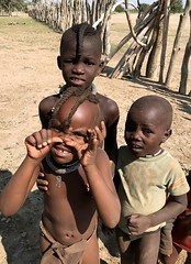 Playful Himba children - in an Opuwo Kaokoland village, Namibia. (One more shot Rog) Tags: kids children africanchildren childrenofafrica africa africansafari safari namibia himba himbatribe himbapeople himbachildren himbavillage tribes tribal tribe onemoreshotrog nikon7100 etosha kaokoland opuwo