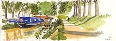 170513 Toulouse Canal de Briène (Vincent Desplanche) Tags: watercolor sketch sketchbook sketching dessinersurlevif workshop toulouse croquis aquarelle seawhiteofbrighton seawhitesketchbook carandache neocolor neocolorii
