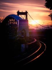Royal Albert Bridge (Timothy Gilbert) Tags: rivertamar saltash sunset panasonic45175mmf4056x plymouth gx8 royalalbertbridge train panasonic tracks tamar ikbrunel cornwall devon tamarbridge