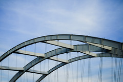 (wickedmartini) Tags: arch bridge architecture design sky clouds curves rochesterny geneseeriver 50mm