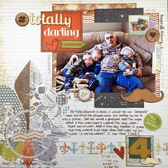 #totally darling (girl231t) Tags: 2016 scrapbook layout 12x12layout paper