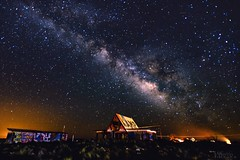 Graffiti Kamp (doublebarrelimages) Tags: travel twoguns route66 abandoned space galaxy stars night longexposure arizona astrophotography milkyway