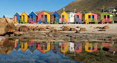 Double the Colour (Panorama Paul) Tags: paulbruinsphotography wwwpaulbruinscoza southafrica westerncape stjames beachhuts colourful beach rockpool reflections mountains nikond800 nikkorlenses nikfilters panorama