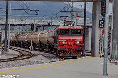 SŽ 363.017 (DavideEos) Tags: treno train zug eisenbahn ferrovia railway divača merci frieght binari güterzug sž alstom 363