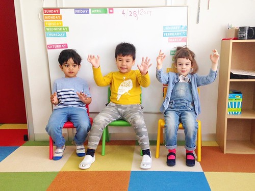 Morning song leaders at Star Kids International Preschool, Tokyo. #starkids #international #preschool #school #children #kids #kinder #kindergarten #daycare #fun #shibakoen #minatoku #tokyo #japan #instakids #instagood #twitter #子供 #幼稚園 #保育園 #スターキッズ #インター