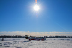 Lake Hood (George Baritakis) Tags: alaska sea seaplane airplane nature snow winter sun ice usa travel travelling lights daylight