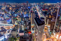 Osaka City view (Hiro_A) Tags: osaka japan night landscape landmark light building buildings umeda d7200 nikon sigma 1770mm 1770 longexposure