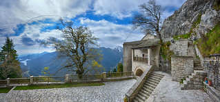 Ιερά Μονή Παναγίας Πελεκητής Καρίτσα Λίμνη Πλαστήρα Holy Monastery of Panagia Pelekiti(hewed) Karitsa Lake Plastira panorana 6 vert cpts