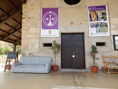 Old Albergue in Molinaseca (amgirl) Tags: elbierzo morning spain 2017 riegodeambostomolinaseca albergue municipal alberguesanroque day21 april19 caminofrances caminodesantiago porch
