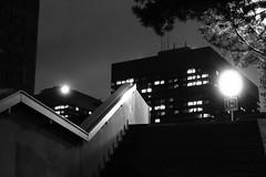 Zigzag (No_Mosquito) Tags: vienna austria city night urban dark lights street stairs angles zigzag canon powershot g7x mark ii perspective modern akh hospital architecture geometry