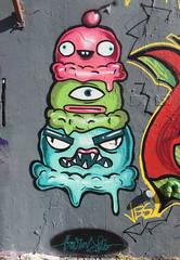Ice Cream (svennevenn) Tags: barnslig icecream iskrem is graffiti gatekunst streetart bergen