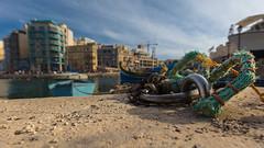 Marina docking station (Role Bigler) Tags: boat canoneos5dsr ef163040l malta ring boatrope chain city coast dockingstation marina marine meditarran rope sliema stadt stahlring steel steelring