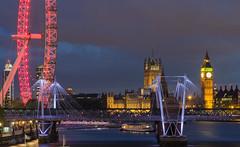 London icons (Zibi_) Tags: london eye big ben bigben houses parliament river thames jubilee bridges bridge city town capital night nightscapes cityscapes longexposure photography canon elizabeths tower