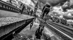 London, London (christian.barroso) Tags: bw blackandwhite blackwhite street streetphotography mirror london rain bigben holiday europe