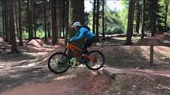 Me learning to jump! (annette1726) Tags: mountainbikes orangebikes mtb