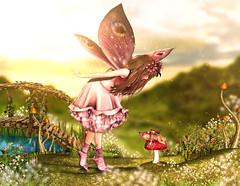 I have found little fairy (meriluu17) Tags: thefantasygachacarnival tfgc go hextrordinary nc fairy fae fay fantasy cute curious amazed surreal magical magic fairytale outdoor people baby kid doll mushroom