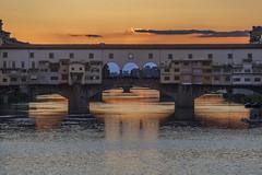 Ponte Vecchio Tramonto (Il crogiuolo dei colori) Tags: giuliomonasta monasta firenze pontevecchio
