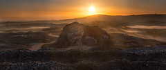 Copper-on-copper (Robalabob1) Tags: parys mountain wales anglesey north mist sunrise landscape valleys copper orange