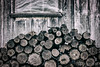 Firewood (AP Imagery) Tags: logs cabin aged rural timber country daviessco abaondoned colors blackandwhite firewood muted monochrome bw kentucky ky stack usa