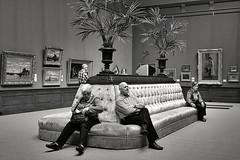 In quiet contemplation (Mr.White@66) Tags: bw blackandwhite biancoenero museum indoors fujifilm fujifilmx100f haarlem thenetherlands holland gallery zwartenwit noiretblanc schwarzundweis enblancoynegro 黑与白 黒と白 svartoghvit svartvitt