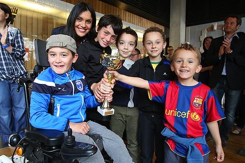 Remise des prix du tournoi de Foot pour Tous en présence de Yamina Boudahmani conseillère municipale déléguée aux sports© Olivier Drilhon