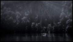 Morning sunburst (in explore) (WibbleFishBanana) Tags: hechtsee austria österreich brandenbergeralpen tirol tyrol see lake water trees boat kufstein thierberg