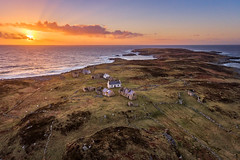 """""""The Deserted Island of Inishsirrer"""" (Gareth Wray - 10 Million Views, Thank You) Tags: ireland historic history building natural old rural abandoned gareth wray photography nikon summer landscape landmark tourist tourism scenic visit sight irish county stone rock architecture walls details d810 sunset dji phantom 4 four drone quadcopter ruin seascape ocean donegal atlantic sea derrybeg bunbeg gweedore bloody foreland famine farm view traditional heritage coast wild way coastal sun clouds island town ghost settlement village dry innishirrer shore seaside beach water inishsirrer barony aerial"""