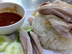 Closer shot of khao man kai from Kin Heng in Bangkok (Fuyuhiko) Tags: closer shot khao man kai from kin heng bangkok カオマンカイ チキン ライス タイ料理 シーロム通り バンコク タイ thailand