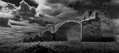 Wesel am Rhein (st.weber71) Tags: wesel rheinland nrw sw brücken eisenbahnbrücke germany deutschland himmel wolken nikon d800 art dramatik landscape landschaft outdoor architektur schwarzweis blackandwhite niederrhein