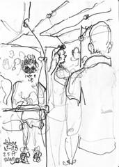 Lisbonne, dans le bus (Croctoo) Tags: croctoo croquis croctoofr crayon lisbonne lisboa ville portugal bus