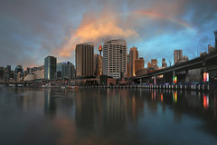 Rainbow over Darling Harbour (lfeng1014) Tags: rainbowoverdarlingharbour rainbow darlingharbour sydney australia harbourfront reflection sunset afterrain canon5dmarkiii ef1635mmf28liiusm longexposure 2seconds travel lifeng