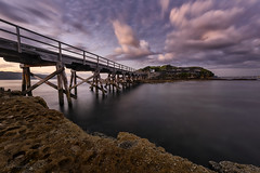Access Point (Crouchy69) Tags: sunrise dawn landscape seascape ocean sea water coast clouds sky rocks long exposure jetty pier bare island la perouse sydney australia