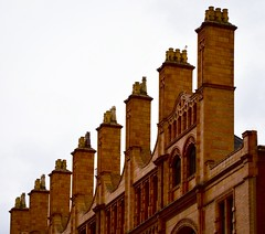 8 Chimneys (rustyruth1959) Tags: nikon nikond3200 tamron16300mm manchester manchestercitycentre oxfordstreetmanchester oxfordstreet city architecture building roof chimney structure chimneypots chimneystack outdoor brickwork bricks offices arch