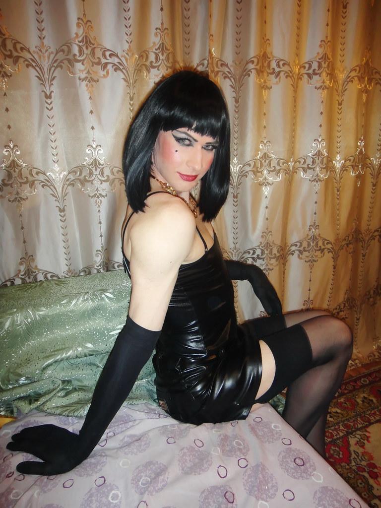 Transvestite and stockings