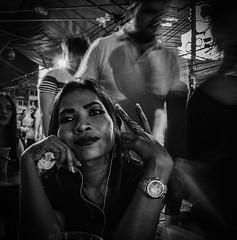 2 Thousands (Julien Cha.) Tags: nana bangkok sukhumvit khmergirl krungthep streetportrait dark