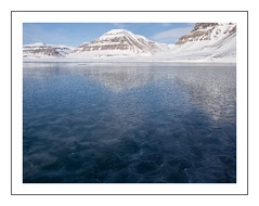 Svalbard Ice Field (Kieran Commins) Tags: ice icefield reflections svalbard pyramiden landscape winter