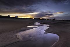 Looking Back (Alex365pix) Tags: sunset blyth water beachhuts northumberland northeastcoast leefilters nikon