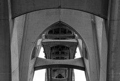 Yaquina Bay Bridge (Aaron Fredericy) Tags: architecture arch newport oregon bridge support gray black white blackandwhite engineering engineer structure