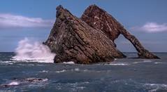 Bow Fiddle Rock. (AlbOst) Tags: bowfiddlerock bowfiddle portknockie moray morayshire waves northsea scottishcoastlines seaarch laquintaessenza