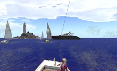 IF@FIYC - Moored yacht in the way! (vivipezz) Tags: secondlife sailing sl fiyc bandit if racing