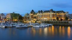 Victoria at Night (Victoria, BC Canada) (Sveta Imnadze) Tags: cityscape night victoria britishcolumbia canada lights empresshotel innerharbour