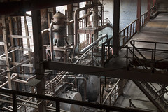 """Factory """"Pegment"""" (Di Daу) Tags: abandoned factory post industrial landscape shadow saint petersburg metall instrument compressor oil tank water stairs sun light"""
