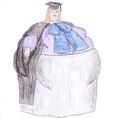 Fat headmistress SSBBW (VeronArmon) Tags: fat bbw ssbbw headmistress strict belly bow blouse huge big heavy