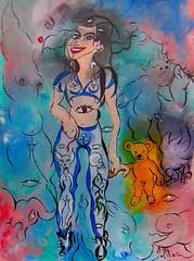 LEGGINGS (Claude Bolduc) Tags: art singulier artsingulier visionaryart outsiderart teen lowbrowart lowbrow surrealism painting sensualart sexyart artcollectors