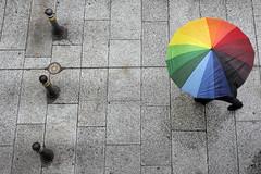 A rainy day (lorenzog.) Tags: rainyday umbrella people viaindipendenza bologna walking colours colors vividcolours contrast nikon d700 street streetphotography ilobsterit urbanstreet sidewalk urbanphotography