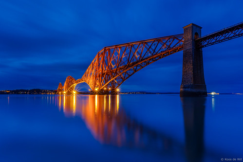 The Forth Bridge at blue hour